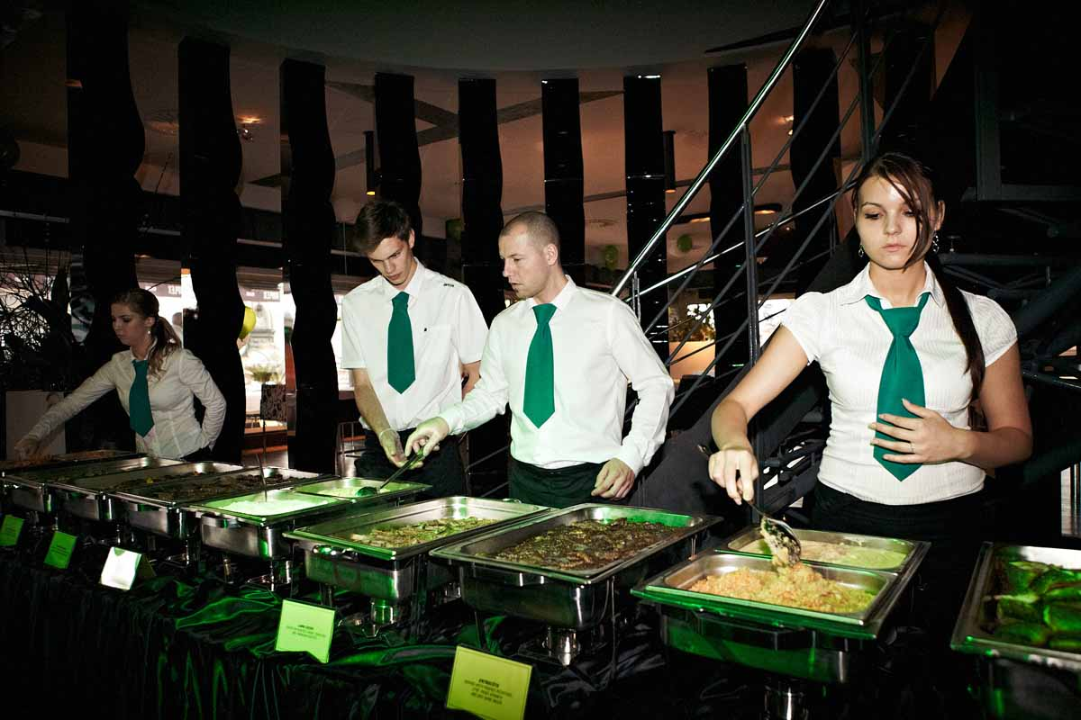 Buffet catering during prague evening event