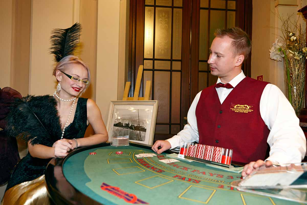 Casino entertained our guests during year end event in Prague we organized