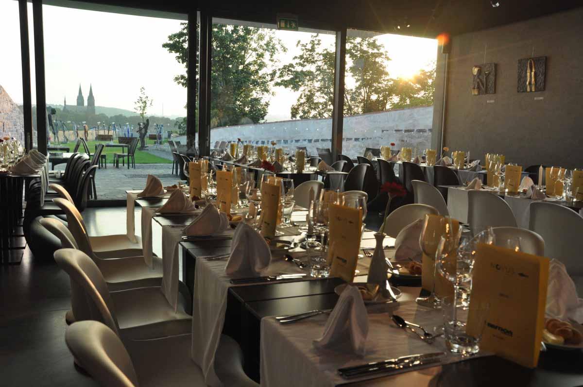 Prague special dinner event venue bastion restaurant interrior photography