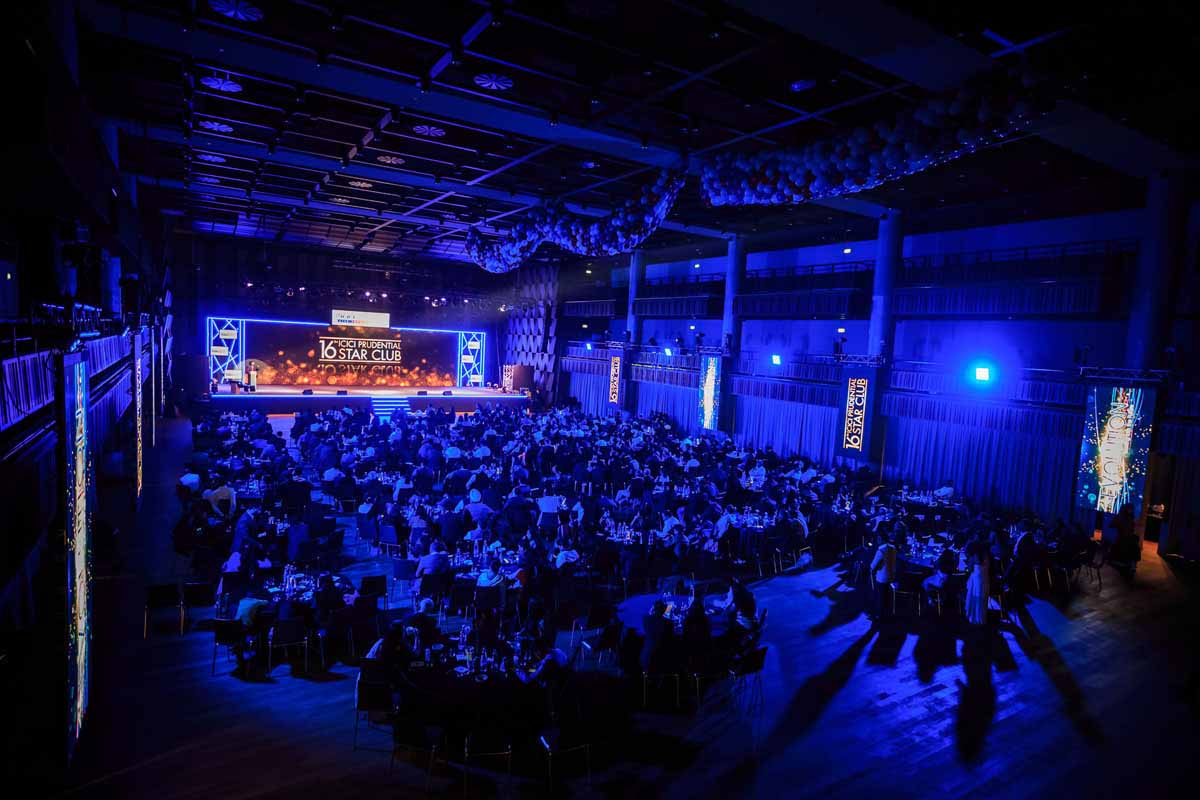 Big hall was organized for this incentive program in Prague award ceremony