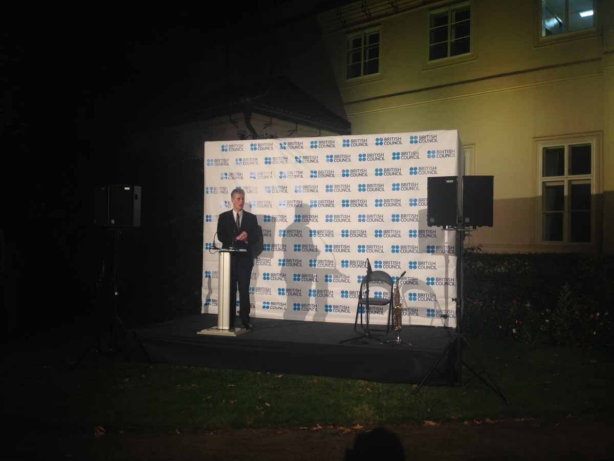 British council speaker at an event organized in Prague