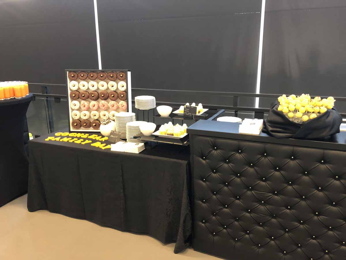 Catering detail during family day event in Prague