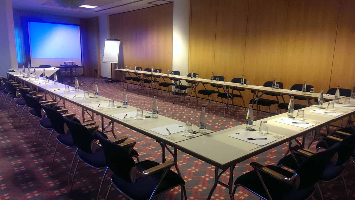 Conference setup for security professionals in Prague