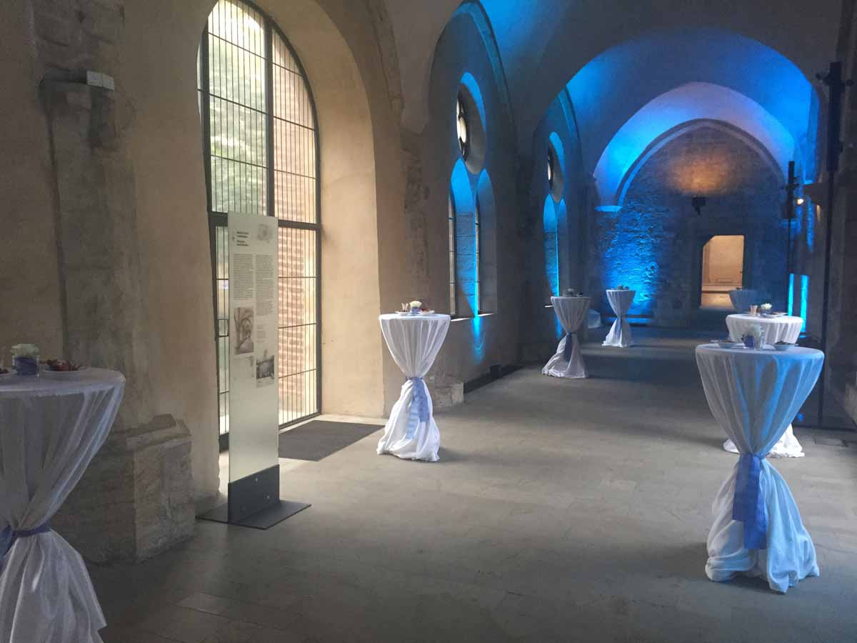 Custom venue decoration during a conference and incentive program organized in Prague