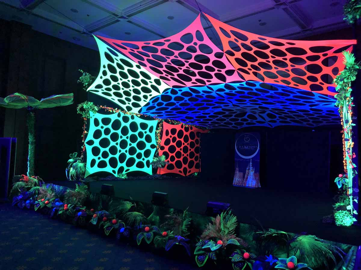 Detail of the black light stage produced for Prague incentive program