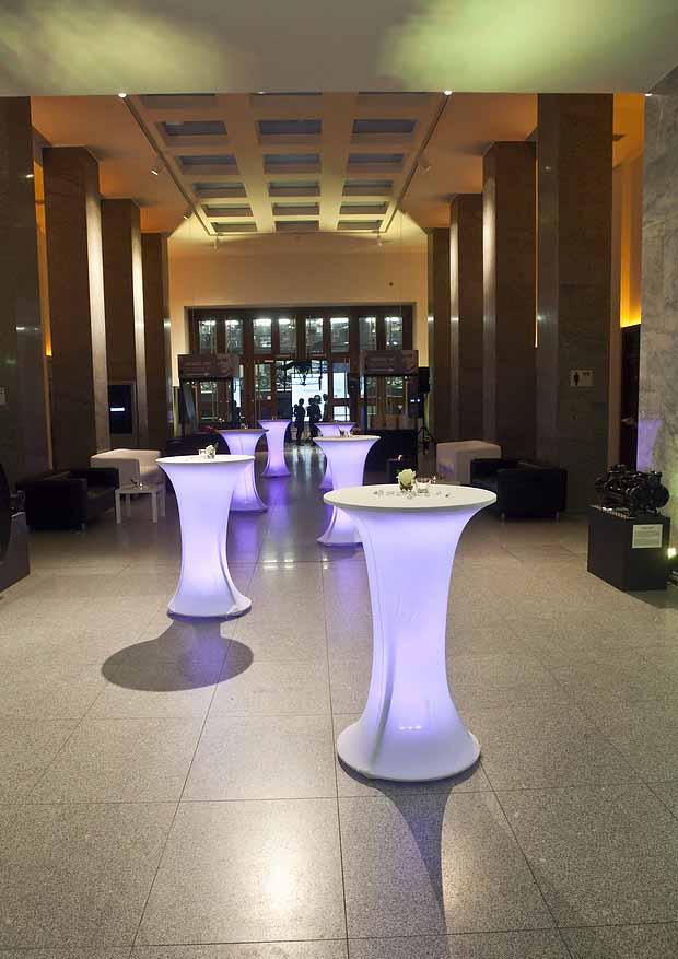Event cocktail tables at Prague event