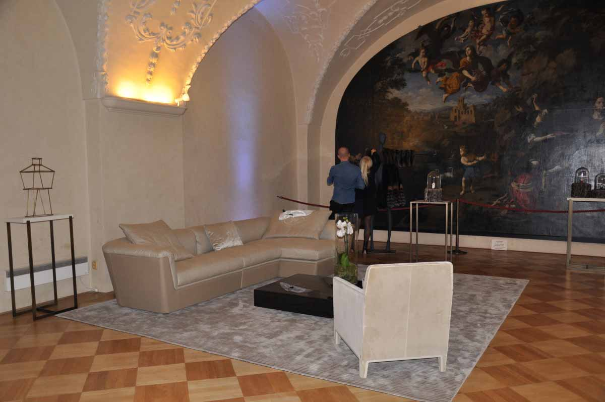 Event furniture organized for a fashion show by Maxin PRAGUE