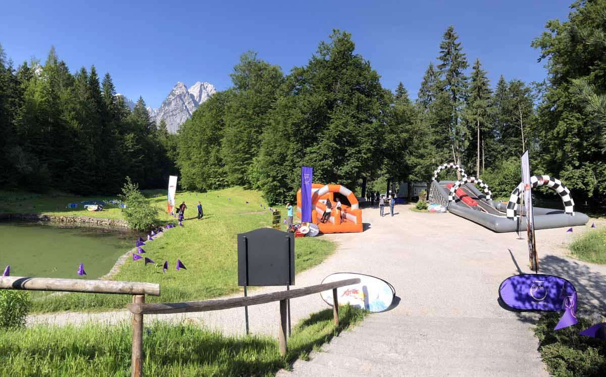 Profesionálně zorganizované zábavní aktivity pro hosty incentiního programu v německých Alpách