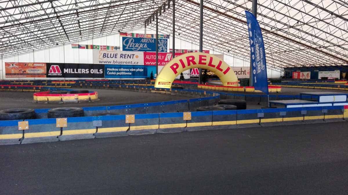 Go kart racing was the part of the teambuilding program our agency organized in Prague