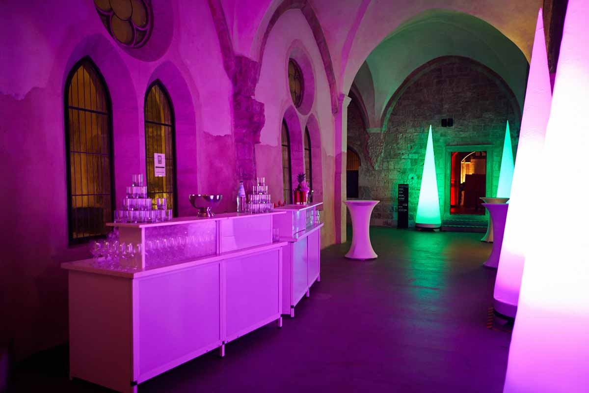 Medieval event venue professional lighting by Maxin PRAGUE