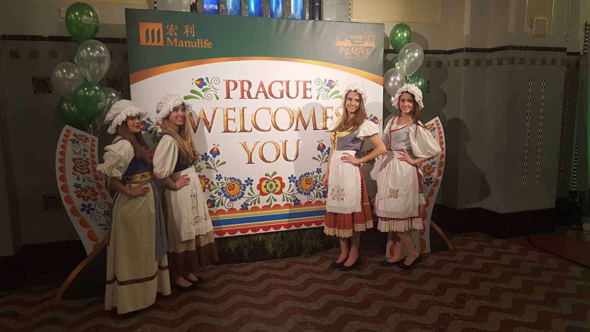 Prague welcomes you in a traditionally Czech way during an incentive program in Prague