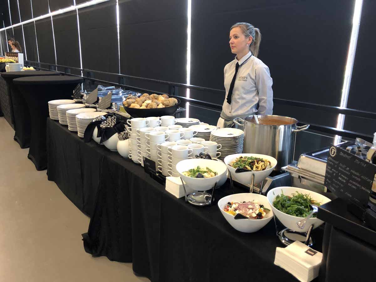Professional catering was organized for a family day event in Prague