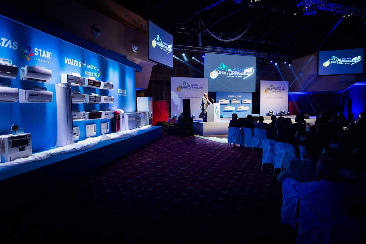 Professional product presentation organized for the annual Prague event