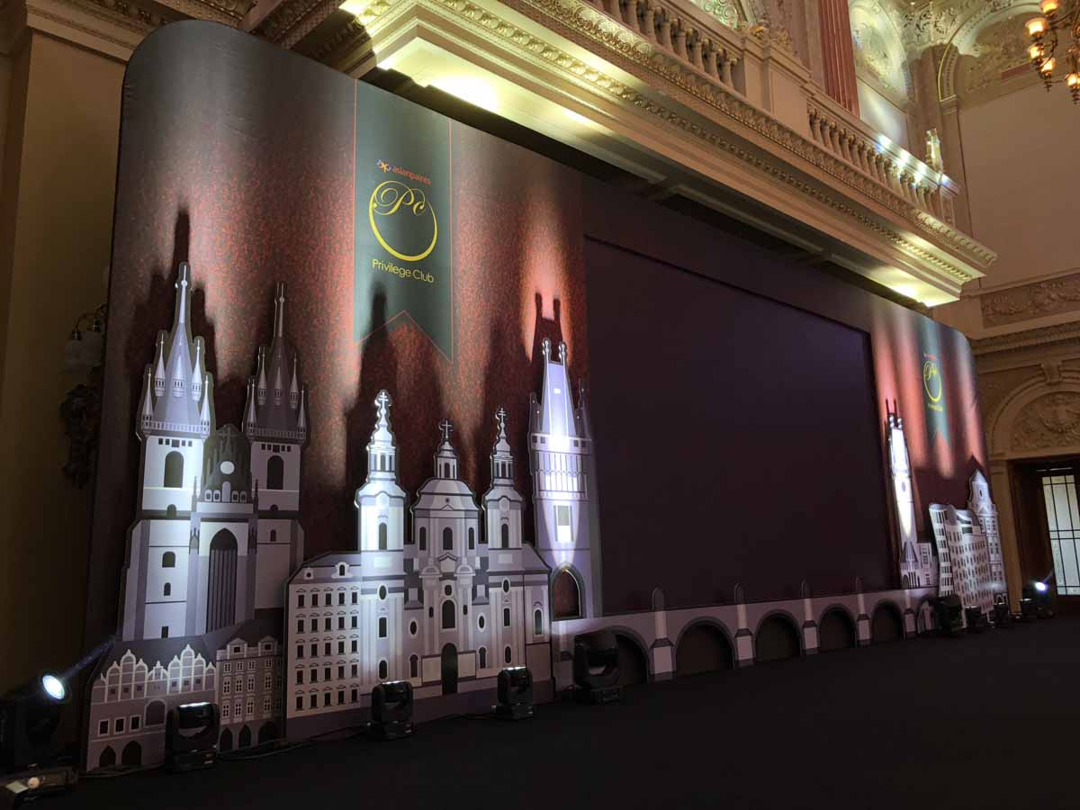 Professionally tailored LED screen at Prague incentive event