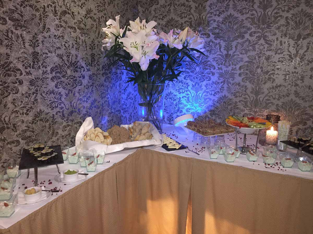 Restaurant setup detail during incentive program organized in Prague