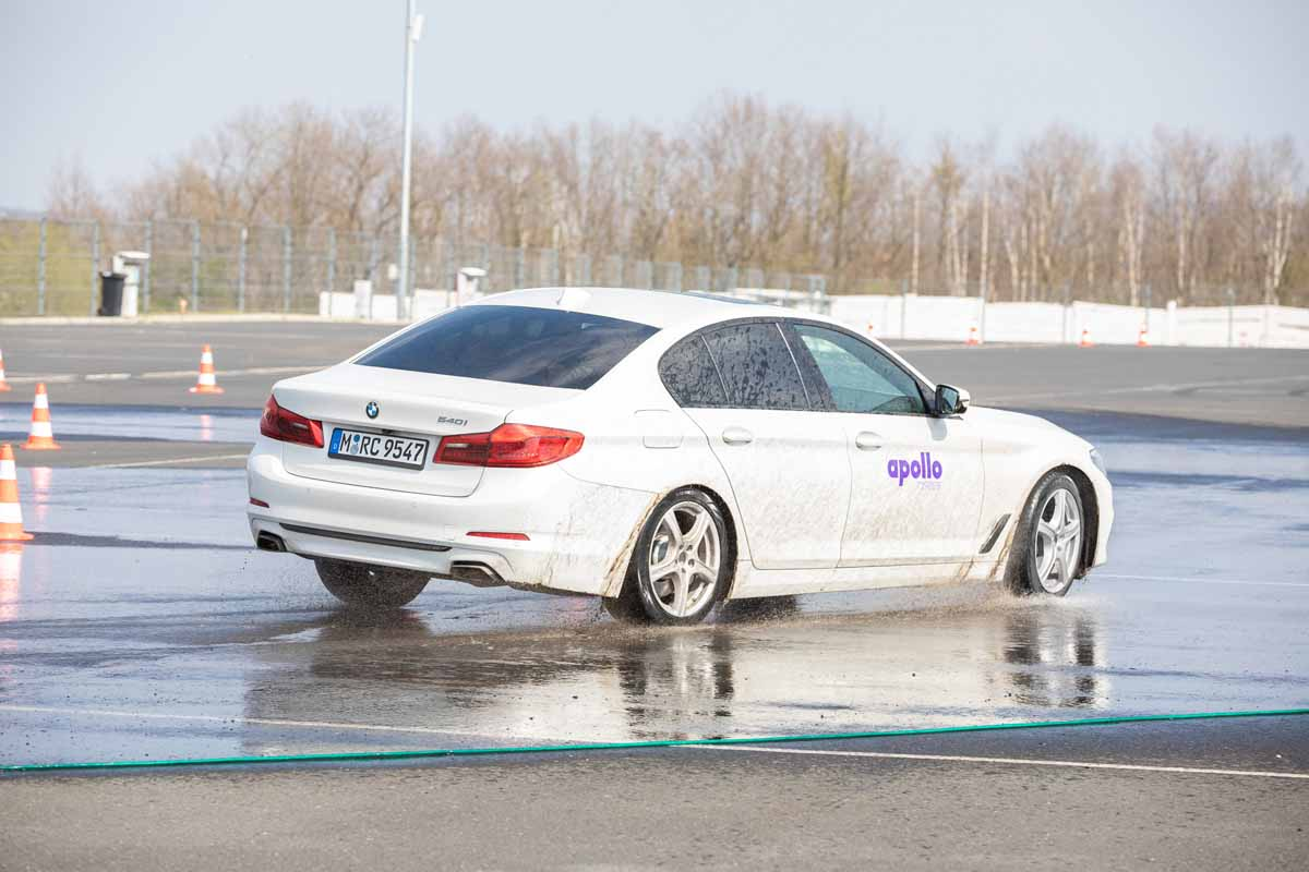 Skid simulator was organized for a big tyre producer incentive event