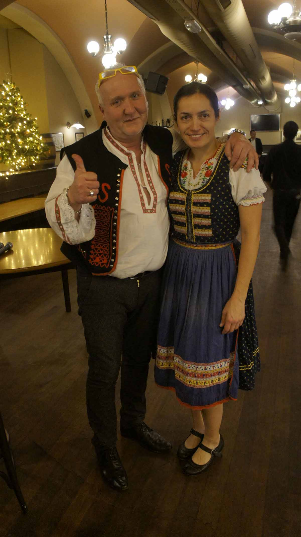 Traditional Czech artists during an incentive program in Prague