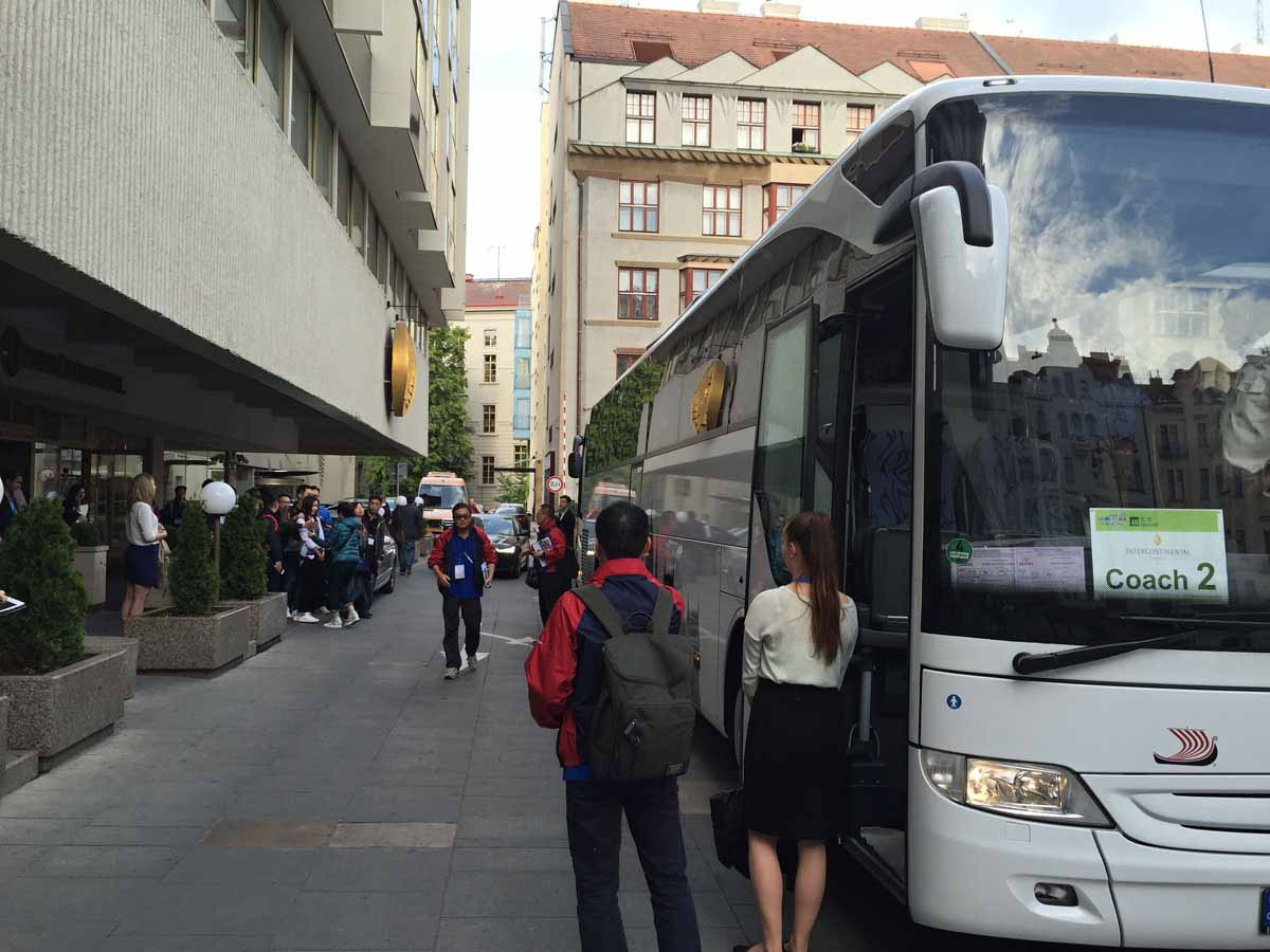 Transportation of over 500 guests during a Prague incentive program