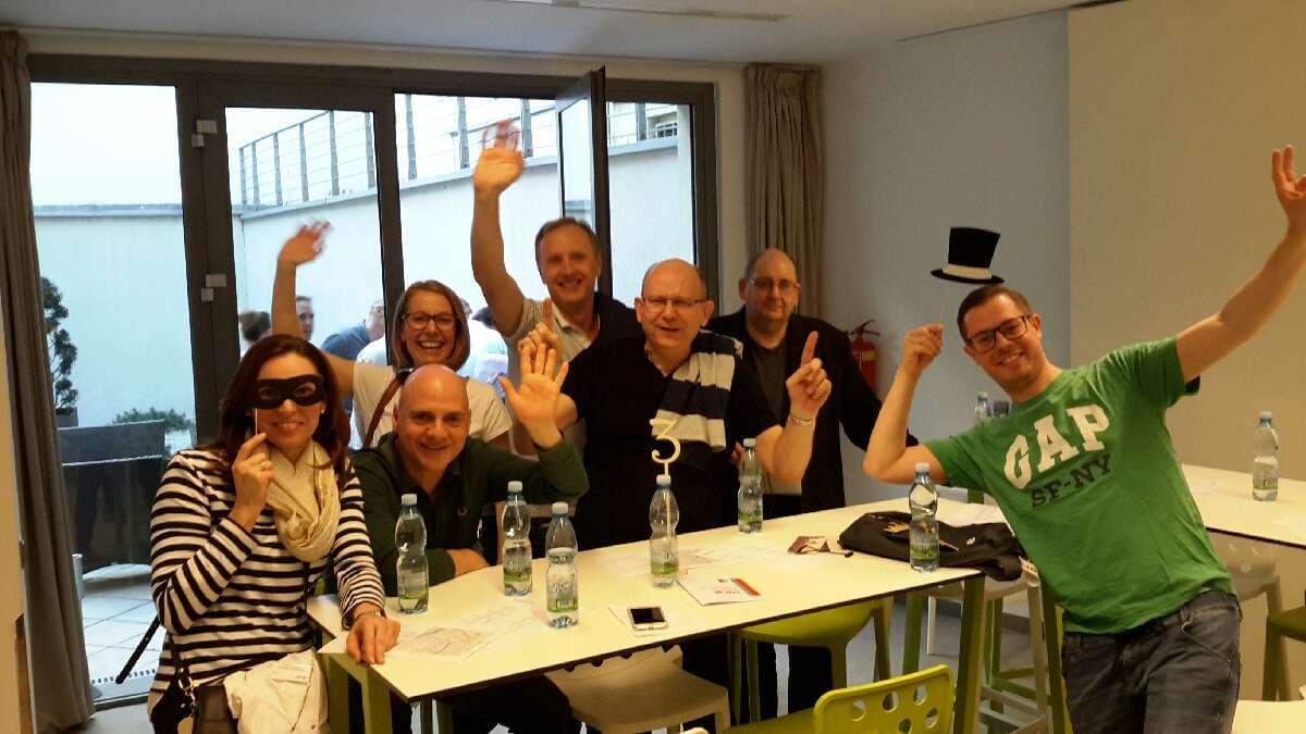 Účastníci unikátního teambuildingu Catalyst Go Team v Praze