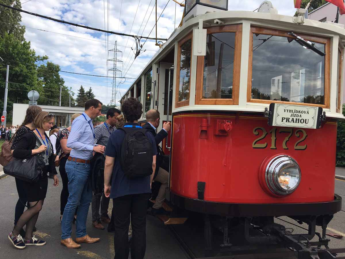 Vintage tram ride organized for Charles University Prague conference