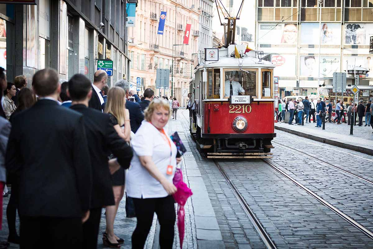 Vintage trams are a popular way of discovering Prague during events