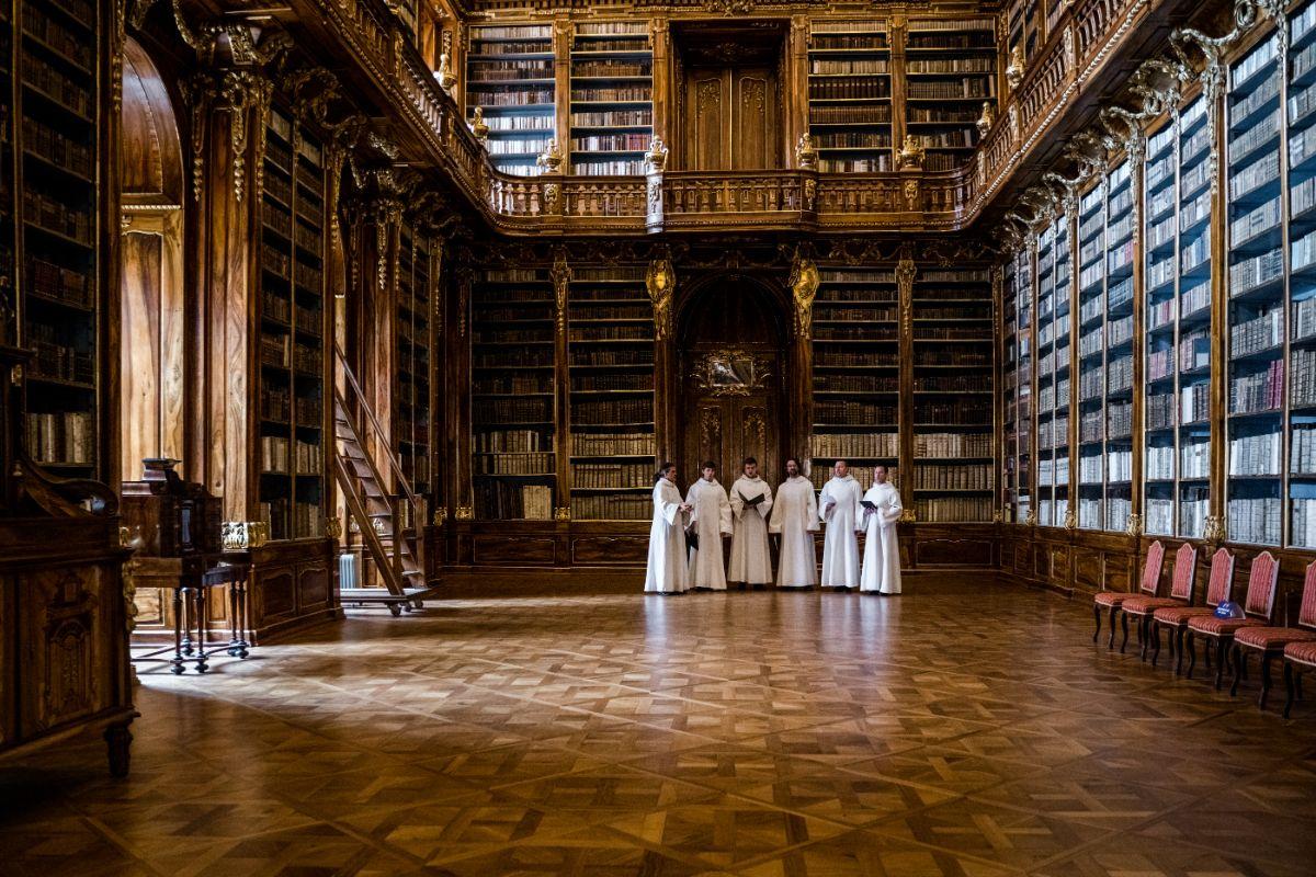 Privátní koncert mnišského sboru