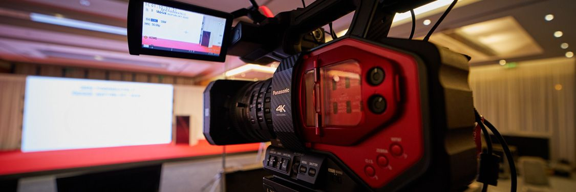 High-quality cameras used for professional online event organisation